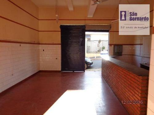 salão comercial para locação, vila rehder, americana. - sl0178
