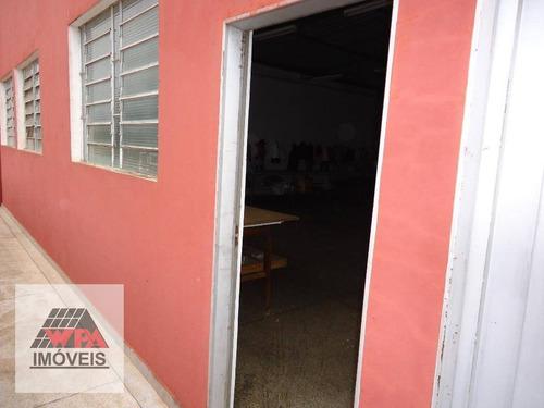 salão comercial para locação, vila santa catarina, americana. - sl0254