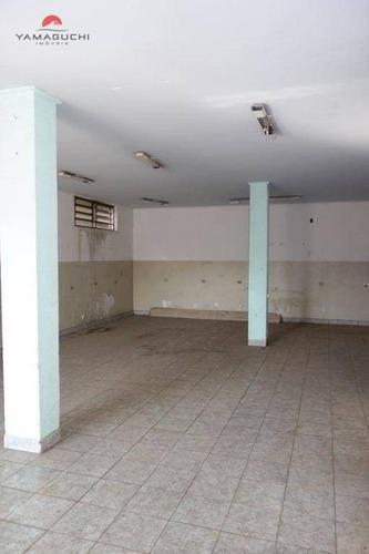 salão comercial para locação,500 m², santa terezinha, paulínia. - codigo: sl0002 - sl0002