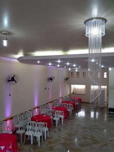 salão de festas com ou sem buffet