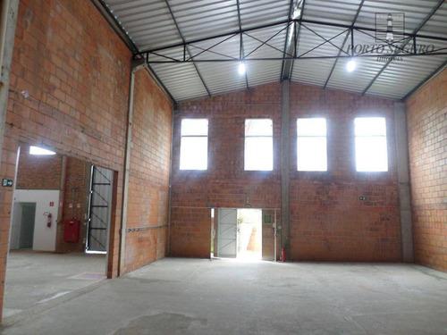 salão industrial para locação, loteamento industrial salto grande i, americana. - sl0036