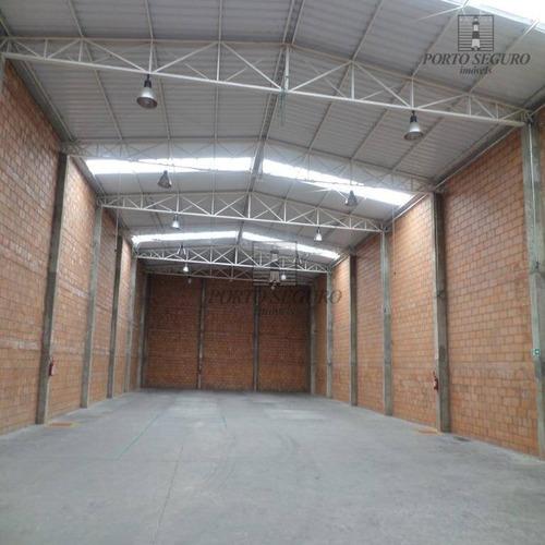salão industrial para locação, loteamento industrial salto grande i, americana. - sl0061