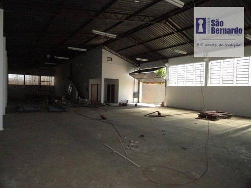 salão industrial para locação, nova americana, americana. - sl0117