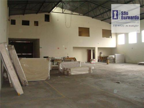 salão industrial à venda, jardim são fernando, santa bárbara d'oeste - sl0100. - sl0100