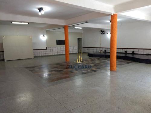 salão para alugar, 100 m² por r$ 1.960/mês - jardim bom clima - guarulhos/sp - sl0716