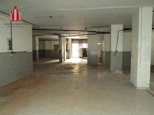 salão para alugar, 100 m² por r$ 8.500/mês - bela vista - são paulo/sp - sl0001