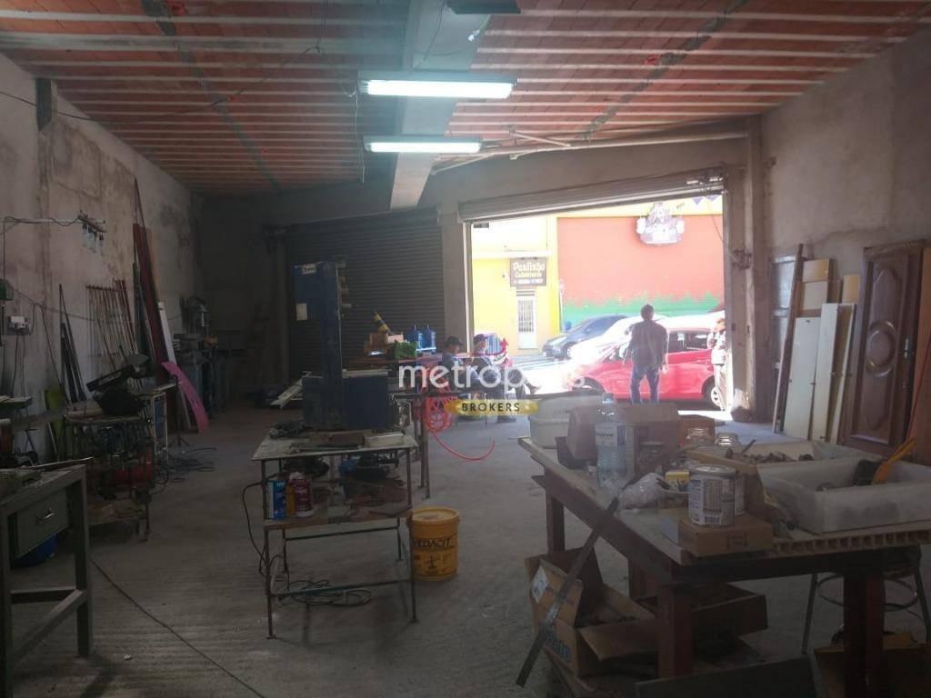 salão para alugar, 117 m² por r$ 4.000,00/mês - santa maria - são caetano do sul/sp - sl0111
