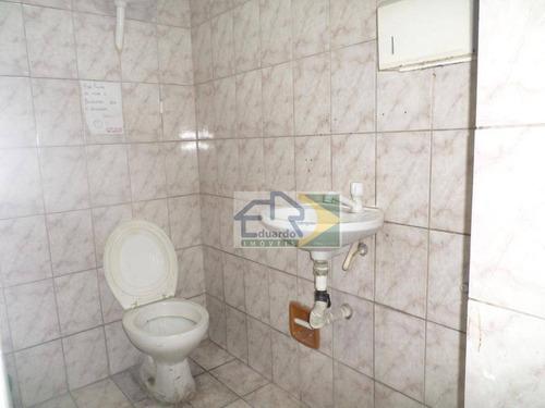 salão para alugar, 120 m² por r$ 8.500,00/mês - centro - suzano/sp - sl0080