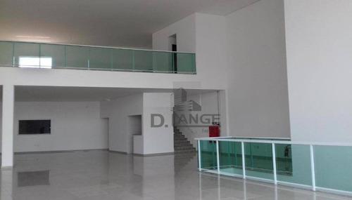 salão para alugar, 1356 m² por r$ 35.000/mês - jardim chapadão - campinas/sp - sl0574