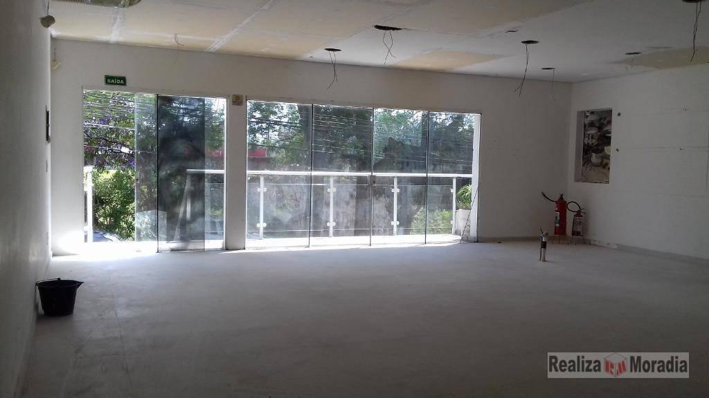 salão para alugar, 150 m² - granja viana - cotia/sp - sl0005