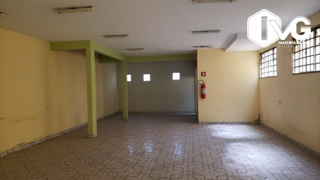 salão para alugar, 175 m² por r$ 2.500,00/mês - parque continental i - guarulhos/sp - sl0100
