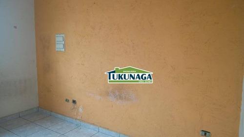 salão para alugar, 180 m² por r$ 1.500/mês - jardim vila galvão - guarulhos/sp - sl0031