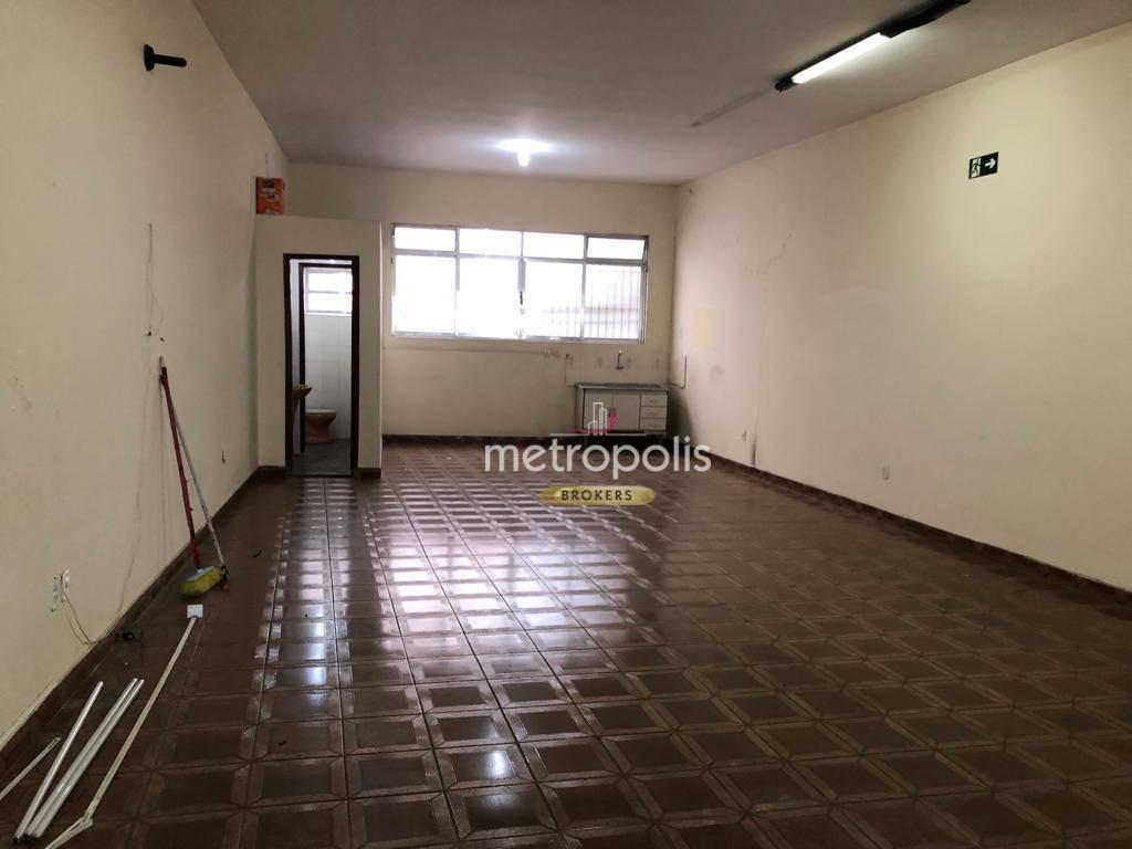 salão para alugar, 180 m² por r$ 6.000/mês - santa maria - são caetano do sul/sp - sl0139