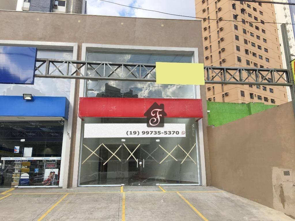 salão para alugar, 183 m² por r$ 8.000/mês - cambuí - campinas/sp - sl0001