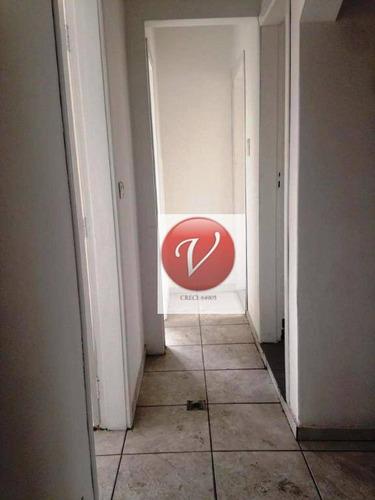 salão para alugar, 200 m² por r$ 5.700/mês - casa branca - santo andré/sp - sl0204