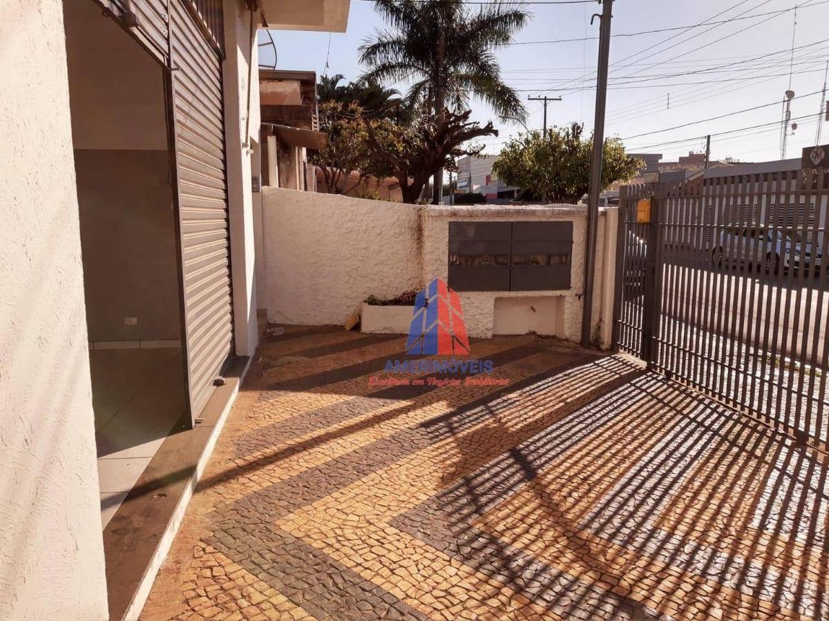 salão para alugar, 203 m² por r$ 2.500,00/mês - cidade jardim ii - americana/sp - sl0052