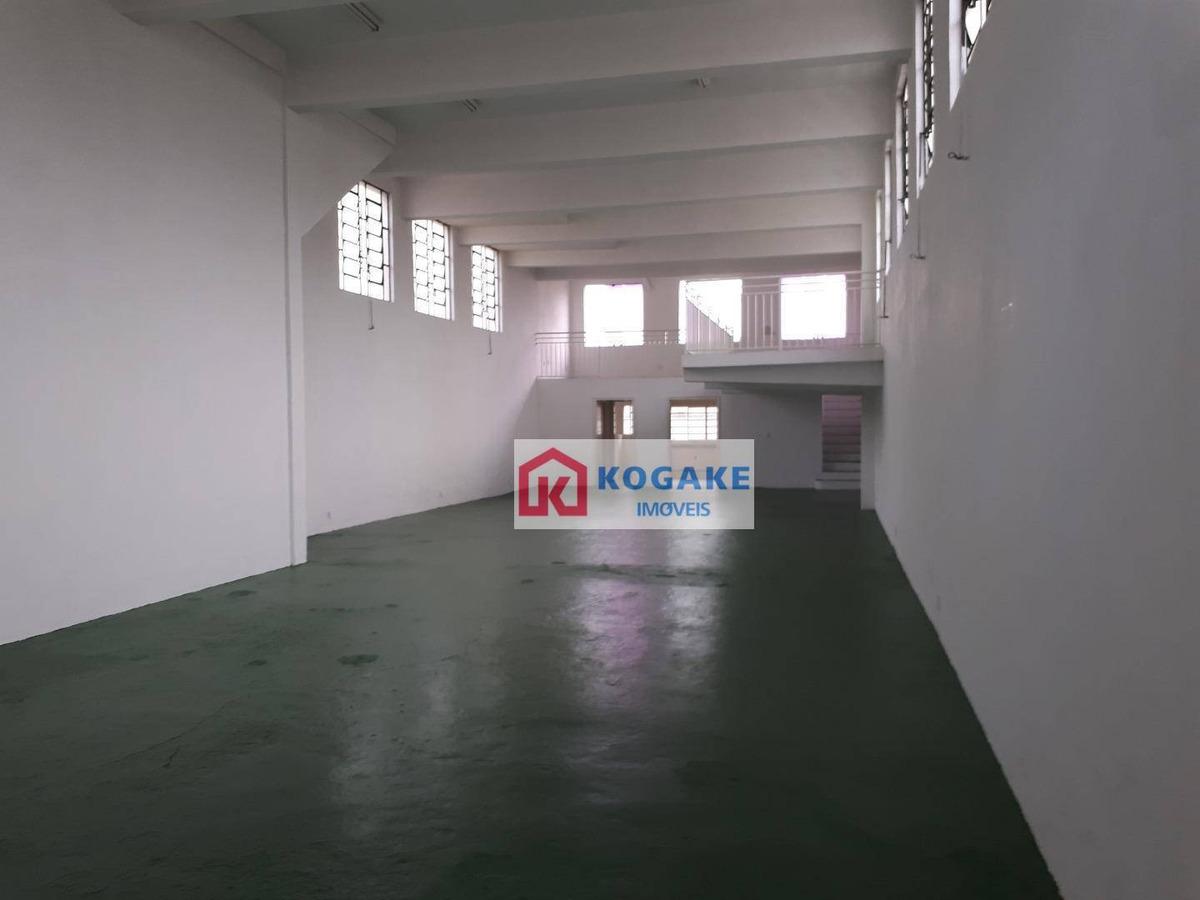 salão para alugar, 240 m² por r$ 3.500,00/mês - monte castelo - são josé dos campos/sp - sl0448
