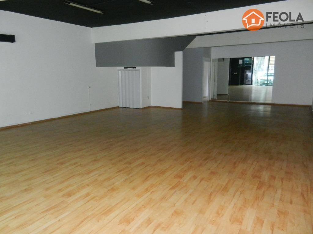 salão para alugar, 272 m² por r$ 6.000/mês - jardim girassol - americana/sp - sl0315