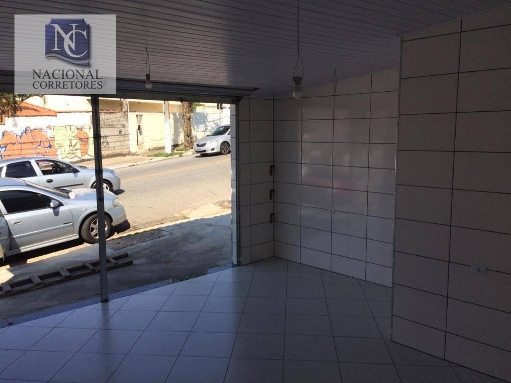 salão para alugar, 32 m² por r$ 900,00/mês - parque oratório - santo andré/sp - sl0886