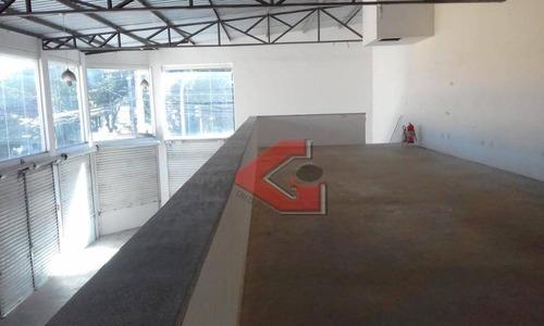 salão para alugar, 373 m² por r$ 6.000/mês - centro - são bernardo do campo/sp - sl0097