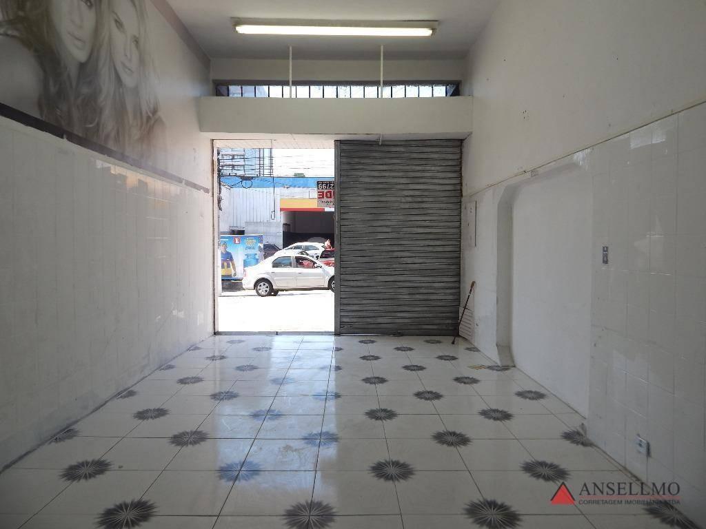 salão para alugar, 50 m² por r$ 3.000/mês - centro - são bernardo do campo/sp - sl0342