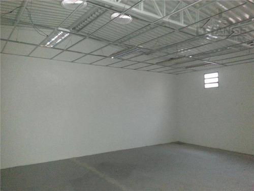 salão para alugar, 500 m² por r$ 7.550/mês - jardim chapadão - campinas/sp - sl0458