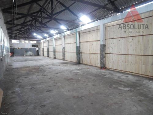 salão para alugar, 650 m² por r$ 4.000/mês - vila santa catarina - americana/sp - sl0244