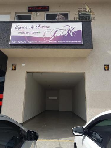 salão para alugar, 80 m² por r$ 1.800/mês - parque rodrigo barreto - arujá/sp - sl0074