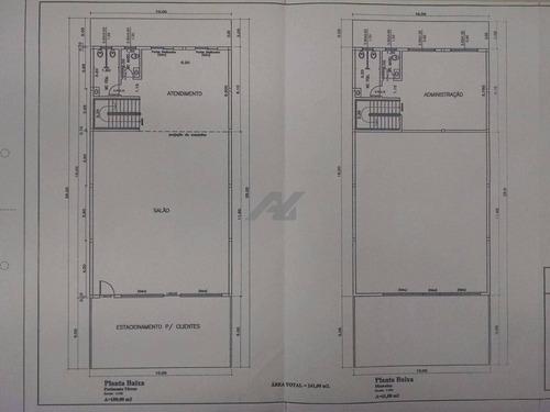 salão para aluguel em nova campinas - sl038106