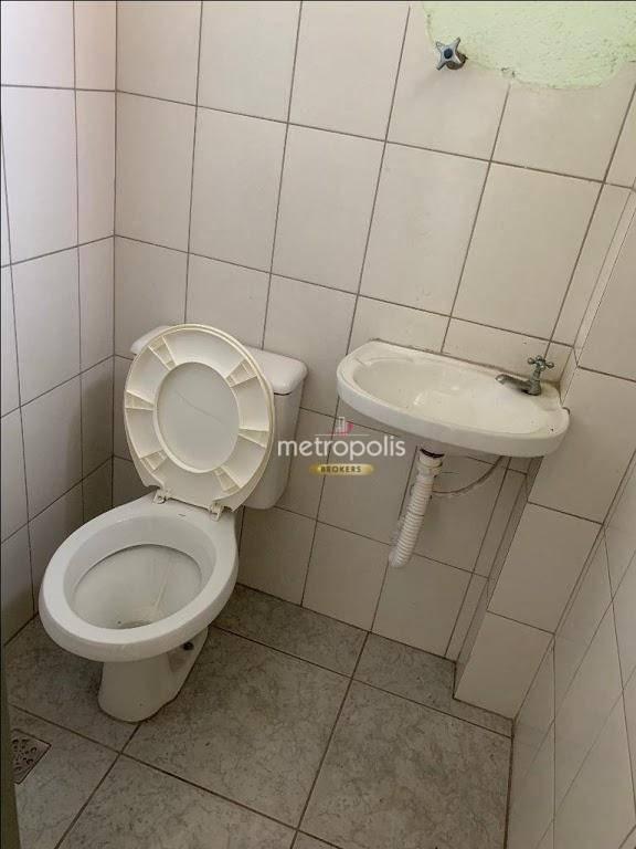salão sobreloja para alugar, 180 m² por r$ 1.600/mês - centro - são caetano do sul/sp - sa0337
