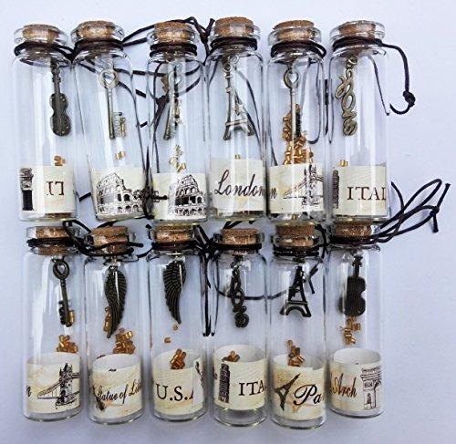 salomé idea pequeño transparente vidrio mini frascos con