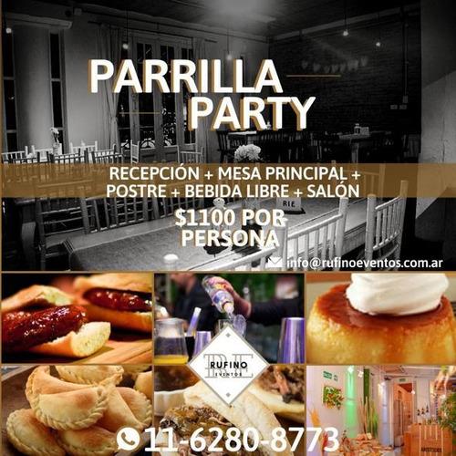 salon de eventos villa crespo con parrilla y pizza party