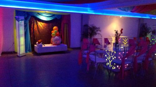 salon de fiesta  hasta las 6 a.m paquete promo 100 invitados