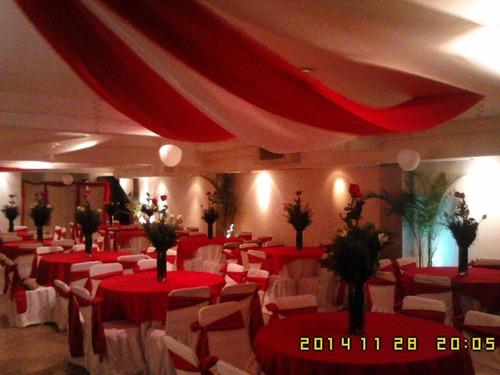 salon de fiesta  hasta las 6 a.m. promo 120 invitados