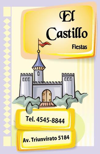 salon de fiestas el castillo - infantiles, adultos, eventos.