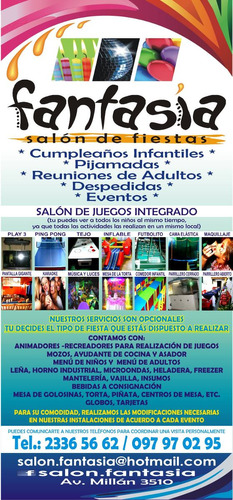 salon de fiestas fantasia, zona prado / atahualpa