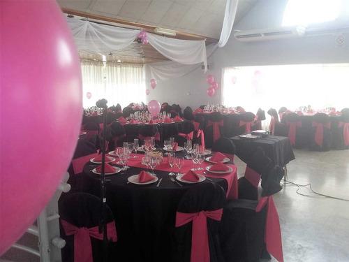 salón de fiestas - tulom - catering - vajilla y manteleria