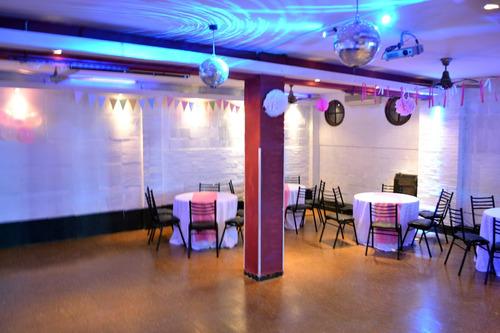 salón fiestas espacio 4 + pizza party + bebida