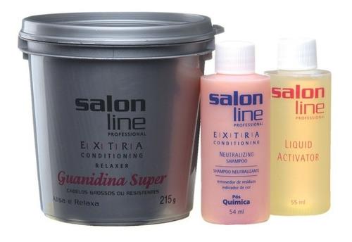 salon line extra guaniina cabelos grosso ou resistentes