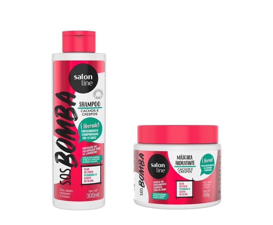 c71f1c9c2 Salon Line Shampoo E Mascara Sos Bomba Cachos E Crespos - R  42