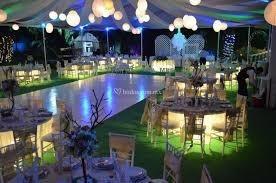 salones, jardines y terrazas para fiestas.