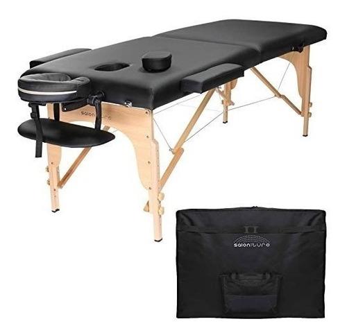 saloniture camilla masajes portátil negra todo incluido