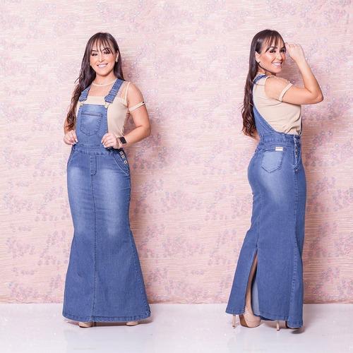 salopete jeans frt - jardineira jeans