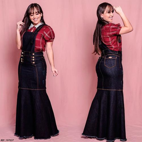 salopete jeans frt modelo sereia