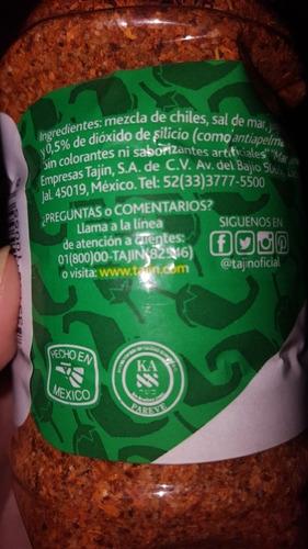 salsa 100% mexicana tajin chile en polvo 142 g