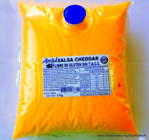 salsa cheddar abedul bolsa x 3 kg equipeshop