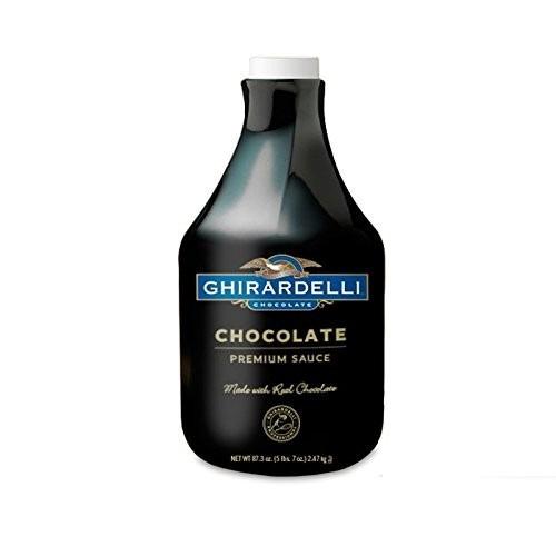 salsa con sabor a chocolate ghirardelli, chocolate, !