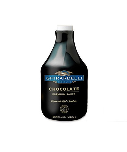 salsa con sabor a chocolate ghirardelli, chocolate, paque