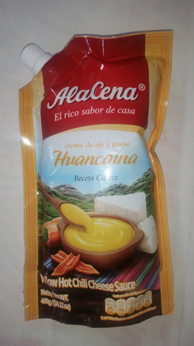 salsa crema huancaína peruana a la cena de 400g en colombia