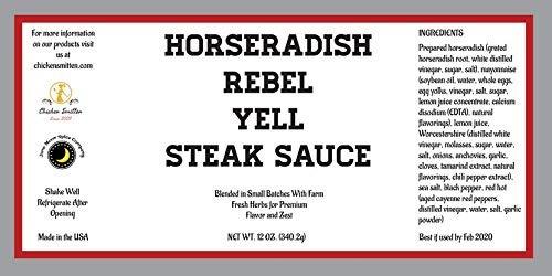 salsa de bistec a la rebelión de rábano picante elaborada